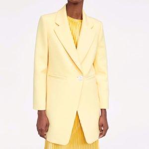 ZARA Straight Cut Frock Coat Blazer Yellow nwt